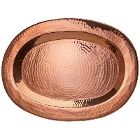 Sertodo Thessaly Platter, 16 inch x 11 inch Oval, Hammered Copper [並行輸入品]