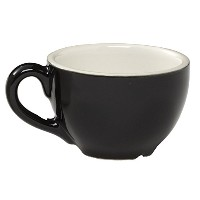 Rattleware Cremaware Black Cup, 16-Ounce, 4-Pack [並行輸入品]