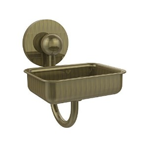 Allied Brass P1032-ABR Soap Dish with Glass Liner, Antique Brass [並行輸入品]