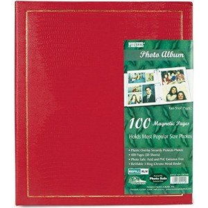 Pioneer Magnetic Page Photo Album, 10-Inch-by-11-1/2-Inch, Assorted Colors [並行輸入品]