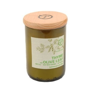 Paddywax Eco Green Soy Wax Candle with 8-Ounce Recycled Glass Fill, Thyme and Olive Leaf [並行輸入品]