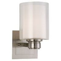 Design House 556134 Oslo Indoor Wall Mount 1-Light Fixture, Satin Nickel [並行輸入品]