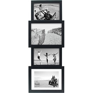 Malden International Designs 4-Opening Collage Picture Frame, Holds 4 by 6-Inch and 5 by 7-Inch...