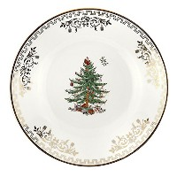Spode Christmas Tree Gold Bread and Butter Plate, Set of 4 [並行輸入品]