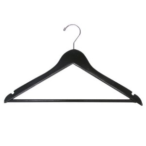 The Great American Hanger Company Wooden Suit Hangers, Black/Chrome Finish, Box of 25 by The Great...