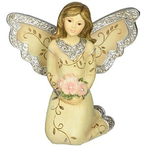 Elements June Monthly Angel Figurine, Includes Pearl Birthstone, 3-Inch [並行輸入品]