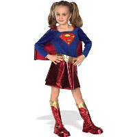 Super DC Heroes Supergirl Child's Costume, Large (Ages 8 to 10) [並行輸入品]