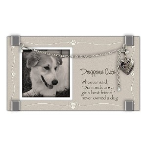 Cathedral Art GF211 Dog Glass Frame with Heart Locket and Bracelet, 6-3/4 by 3-3/4-Inch [並行輸入品]
