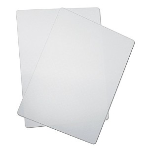 CounterArt Chop Chop Flexible Non-Slip Suction Cutting Mat (Set of 2), 11 by 15-Inch, Translucent ...