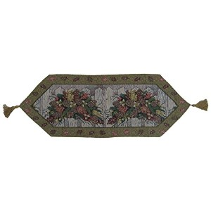 DaDa Bedding TR-6068 Christmas Fiesta Woven Table Runner, 13 by 48-Inch, Floral [並行輸入品]