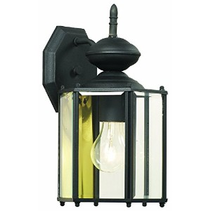 Thomas Lighting SL92427 Brentwood Collection 1 Light Outdoor Wall Sconce, Matte Black [並行輸入品]