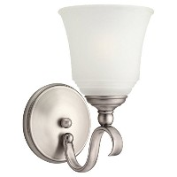 Sea Gull Lighting 49380BLE-965 Bath Vanity with Satin Etched?Glass Shades, Antique Brushed Nickel...