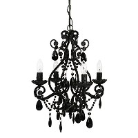 Tadpoles Four Bulb Chandelier, Black by Tadpoles