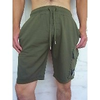 "C.P.COMPANY(シー・ピー・カンパニー)【BERMUDA IN FELPA SEQUOIA CON】""GOGGLE LENS POCKET""EASY SWEAT SHORTS★KHAKI☆"