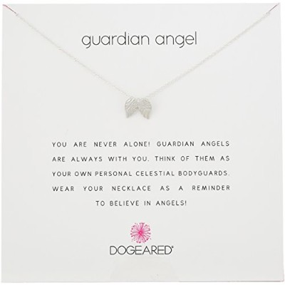 "[ドギャード]Dogeared ""Reminders"" Guardian Angel Wing Silver Charm Necklace, 18"" ネックレス ジュエリー[並行輸入品]"