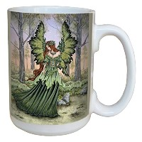 Tree-Free Greetings lm43558 Fantasy Lady of The Forest Fairy Ceramic Mug with Full Sized Handle by...