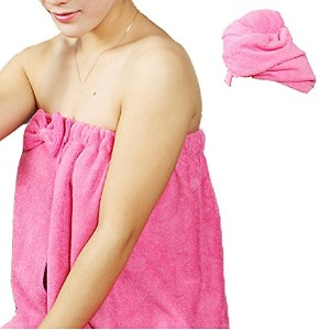 Zhhlaixing Womens Wearing Extra Soft Water Absorbent マイクロファイバー Spa Bath Towel Sets With Shower Cap