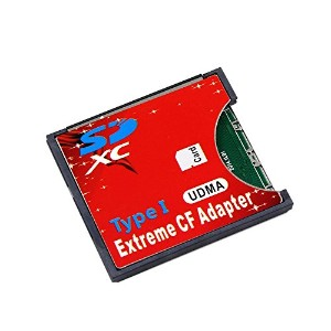 CHENYANG SD SDHC SDXC to高速ExtremeコンパクトフラッシュCFタイプIアダプタfor 16/ 32/ 64/ 128GB