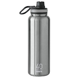 Takeya ThermoFlask Insulated Stainless Steel Water Bottle, 40 oz, Steel by Takeya