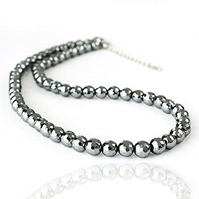 One&Only Jewellery テラヘルツ 鉱石 6mm ネックレス チョーカー (ミラーカット)