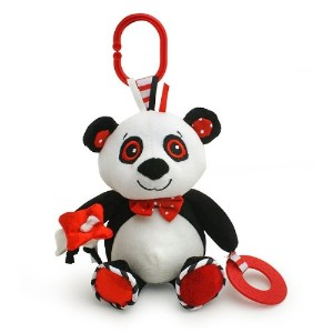 Piper the Panda - black, white & red, baby travel toy by Genius Baby Toys
