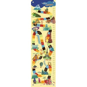 Oopsy daisy World Wonders Growth Chart by Jenny Kostecki- Shaw, 12 by 42 Inches by Oopsy Daisy