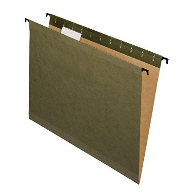 Hanging File Folders, Letter, Green, 20/Box (並行輸入品)