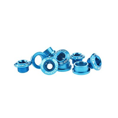 AEROZINE ALLOY A2 CRANK CHAINRING BOLTS & NUTS / SINGLE&DOUBLE / 5PAIR/5G/BLUEチェーンリングボルトシングル...