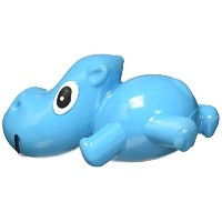 Cycle Dog 3 Play Mini Hippo Squeaking Play Head Float Dog Treat Toy Blue Small