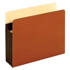 Wide 3 1/2 Inch Expansion Accordion Pocket, Letter, Redrope, 10/Box (並行輸入品)