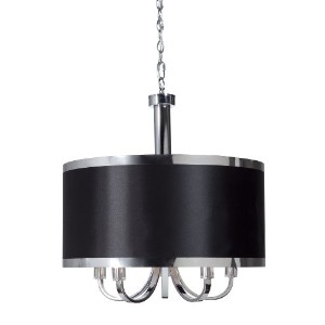 Steven And Chris By Artcraft Lighting SC435BK Madison Transitional 5-Light Chandelier, Black With...