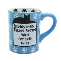 Enesco 4026110 Our Name Is Mud by Lorrie Veasey Cat Hair Mug, 4-1/2-Inch by Enesco