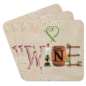Epic ProductsワインLetters Coasters ( Set of 25 )、マルチカラー