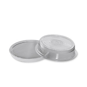 Nordic Ware Microwave 2-Sided Round Bacon and Meat Grill and 10-Inch Deluxe Microwave Plate Cover...