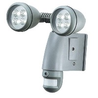 SmartGuard Motion Sensor Halogen Twin 4 pc LED Lights with Built-in Camera, 4g Sd Card Included by...