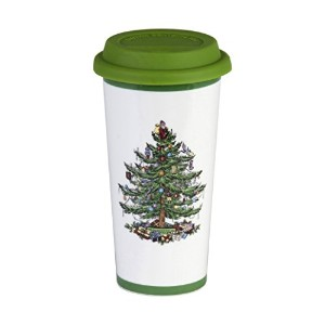 Spode Christmas Tree Travel Mug with Silicone Lid by Spode