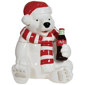 Westland Giftware Ceramic Cookie Jar, Holiday Polar Bear, Multicolor by Westland Giftware