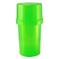 MedTainer Storage Container w/ Built-In Grinder - Transparent Green by Medtainer
