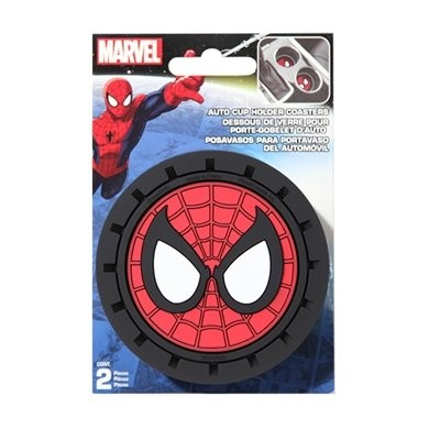 Marvel Spiderman Heavy Duty Rubber Auto Cup Coaster 2 pc by Marvel