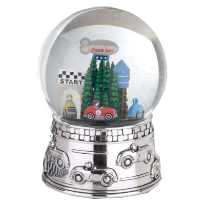 Reed & Barton Race Car Musical Water Globe, plays Star Spangled Banner