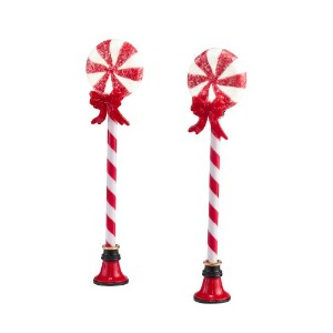Department 56 Accessories for Village Collections Peppermint Street Lights Lights, 4.09-Inch, Set...