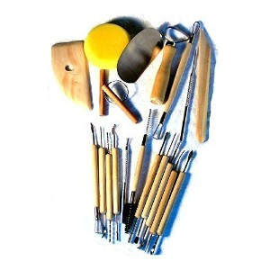 19-Pc Pottery & Clay Sculpture Modeling Tools by SE