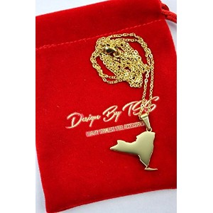 """DESIGN by TSS (デザイン・バイ・ティーエスエス) / """"NEW YORK"""" (ニューヨーク州) NECKRACE (ネックレス) / gold (Gold Stainless..."""