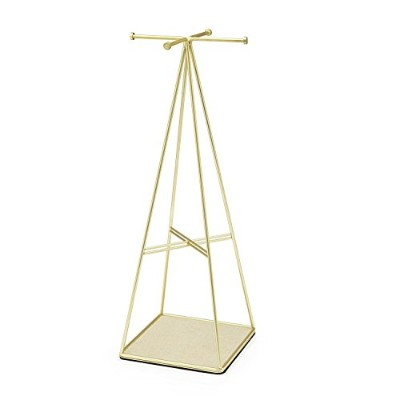 High Quality Prisma Jewelry Stand, Matte Brass