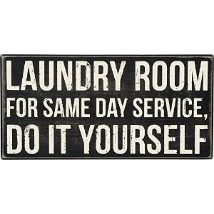 High Quality Laundry Room Box Sign