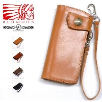 REDMOON/RRC Leather Long Wallet [RRC-NCW-02C] レッドムーン/ダブルアールシー コンチョ付き本革長財布 サイフ ウォレットチェーン付属