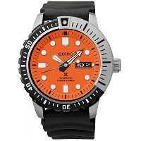 [セイコー]Seiko 腕時計 SRP589 Automatic Orange Dial Black Rubber Band Prospex Diver Watch SRP589K メンズ ...