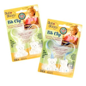 Baby Buddy Bib Clip 2ct for 0-36 months (Blue /White )