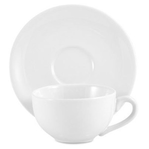 Amsterdam Tea Cup and Saucer - White by Amsterdam