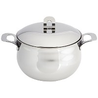 """ExcelSteel Made in Italy 7–1/ 2"""" QTステンレスStockpot w / Sandwichedベース"""